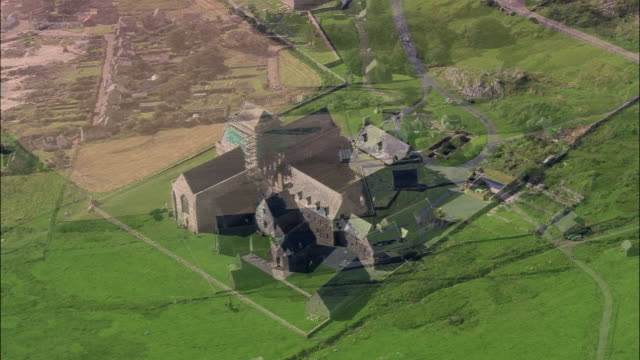 island of iona and monastery - monastery stock videos & royalty-free footage