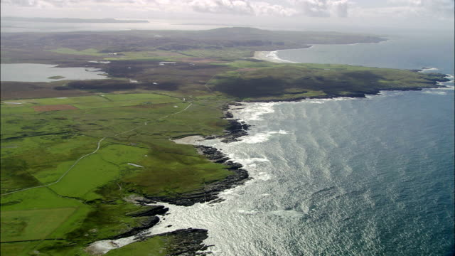 island of islay  - aerial view - scotland, united kingdom - coastline stock videos & royalty-free footage