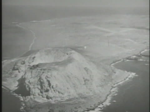 island of iwo jima including mount suribachi wwii world war ii strategic location battle of iwo jima united states empire of japan ogasawara islands... - battle of iwo jima stock videos & royalty-free footage
