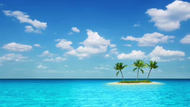 Island, sea and sky