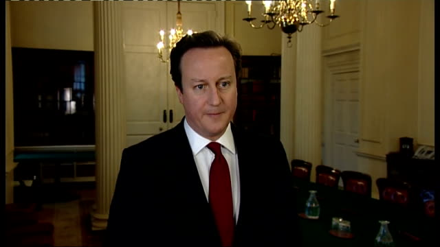 Islanders vote to remain British David Cameron reaction ENGLAND London INT David Cameron MP interview SOT Q What is your reaction to the overwhelming...