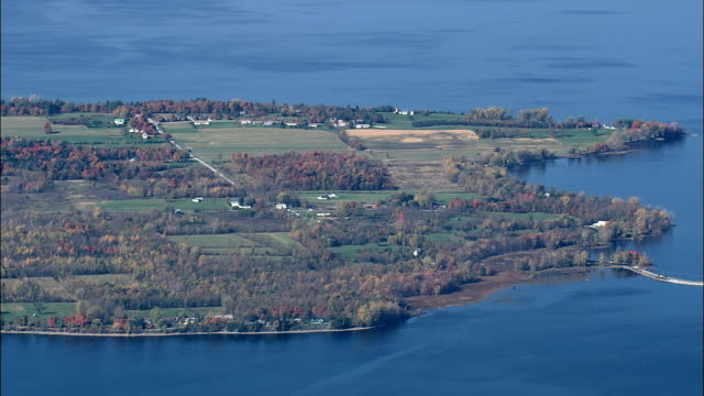 Islands In Lake Champlain  - Aerial View - Vermont,  Grand Isle County,  United States