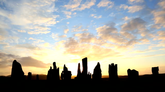 isle lewis outer hebrides callanish standing stones scotland uk  - hebrides stock videos and b-roll footage