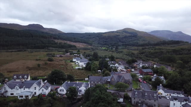 Isle of Mull drone aerials over houses