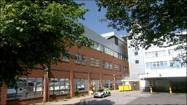 gvs medway maritime hospital england kent maidstone ext gvs of medway maritime hospital ae and ambulances - maidstone hospital stock videos and b-roll footage