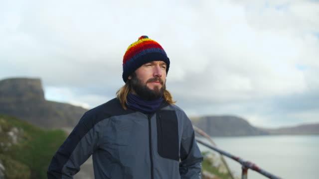isle of skye sgurr - headwear stock videos & royalty-free footage