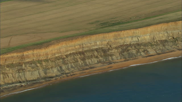 aerial isle of wight cliffs / united kingdom - isle of wight stock videos & royalty-free footage