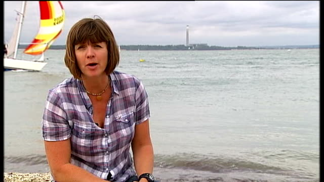 Isle of Wight Cowes Reporter to camera