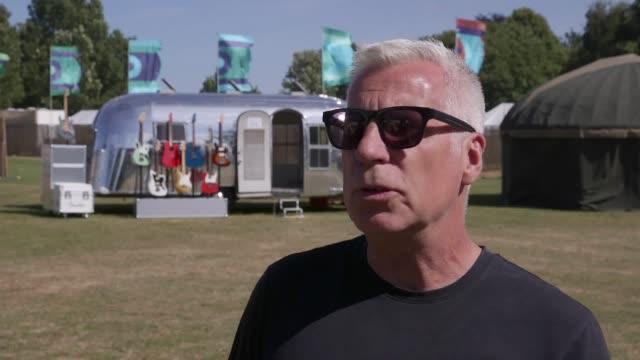 stockvideo's en b-roll-footage met isle of wight festival organiser john giddings speaks ahead of this year's 50th anniversary festival - 50 jarig jubileum