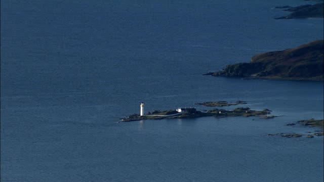 Isleornsay On Sound Of Sleat  - Aerial View - Scotland, Highland, United Kingdom