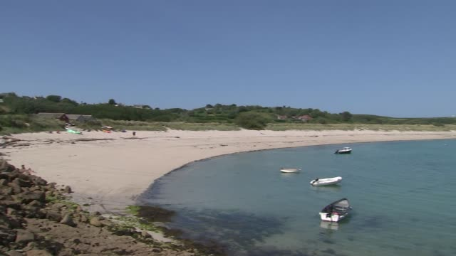 isles of scilly gvs plants and wildlife england cornwall isles of scilly st martin's ext red phone box and cottages in higher town area/ flowers... - dry stock videos & royalty-free footage