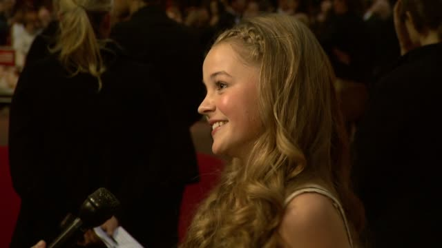 Isobel MeikleSmall at the Never Let Me Go Premiere 54th BFI London Film Festival at London England