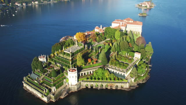isola bella aerial view