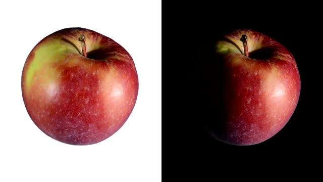 vidéos et rushes de alpha: isolé pomme - pomme