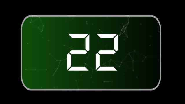 isolated background 30 to 0 countdown, counterclockwise, green background - 30 seconds or greater video stock e b–roll
