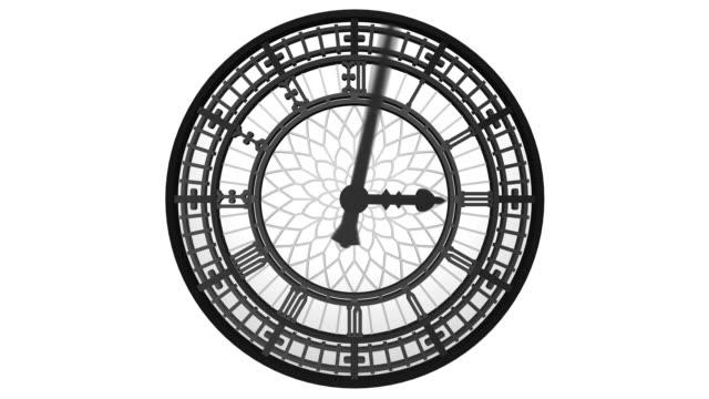 isolated clock - gothic style stock videos & royalty-free footage