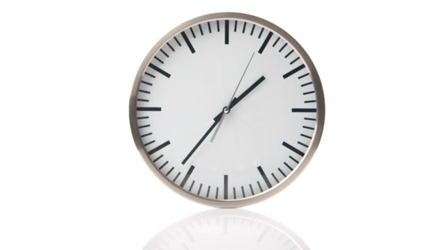 timelapse: isolated clock - clock hand stock videos and b-roll footage