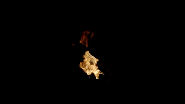 isolated flame shot on black - flame stock videos & royalty-free footage