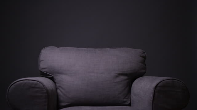 isolated gray armchair - armchair stock videos & royalty-free footage
