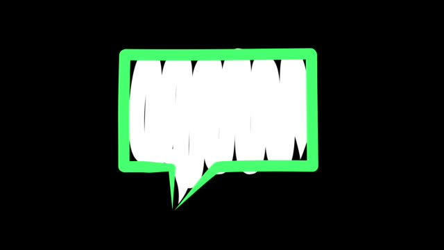 isolated green speech bubble - speech bubble stock videos & royalty-free footage