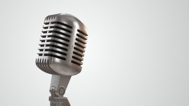 Einzelne Retro Mikrofon/Endlos wiederholbar – 6,4 Kilometer