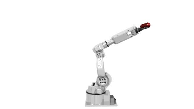 isolated robot - robotarm tillverkningsutrustning bildbanksvideor och videomaterial från bakom kulisserna