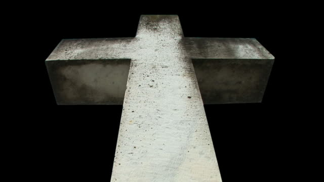 hd loop: isolated spiritual cross - tombstone stock videos and b-roll footage
