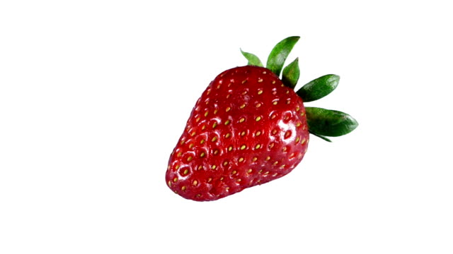 stockvideo's en b-roll-footage met isolated strawberry - enkel object