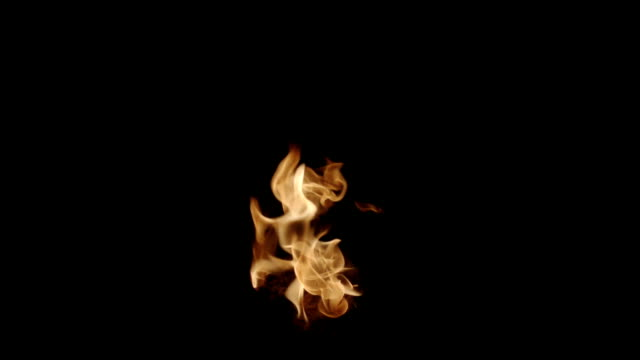 Isolated Strong Flame shot on Black
