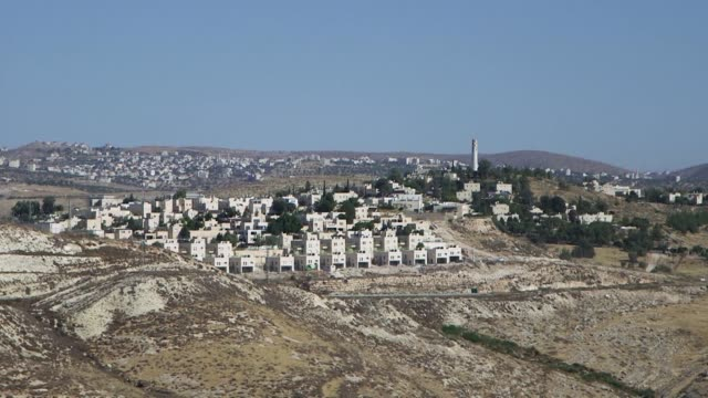 israel approves construction of 1958 new settler homes in the occupied west bank israeli settlement watchdog peace now told afp - israel stock videos & royalty-free footage