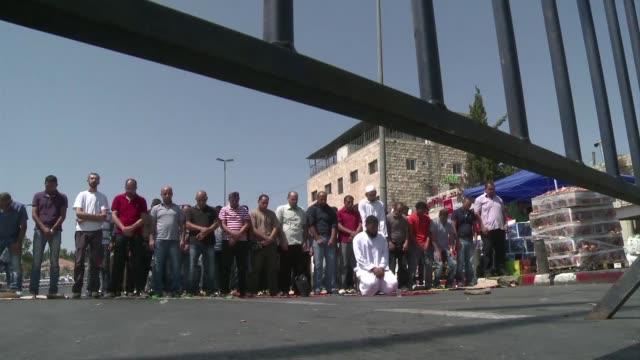 israel cerro este viernes los territorios palestinos por 48 horas con motivo de la fiesta judia de yom kipur el dia del perdon que comienza al... - jom kippur stock-videos und b-roll-filmmaterial