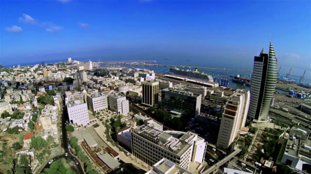 città di haifa, israele - haifa video stock e b–roll
