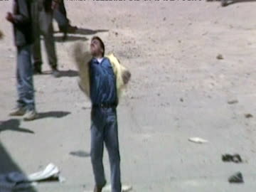 israel defence forces soldiers shooting, street fighting in israel - パレスチナ文化点の映像素材/bロール