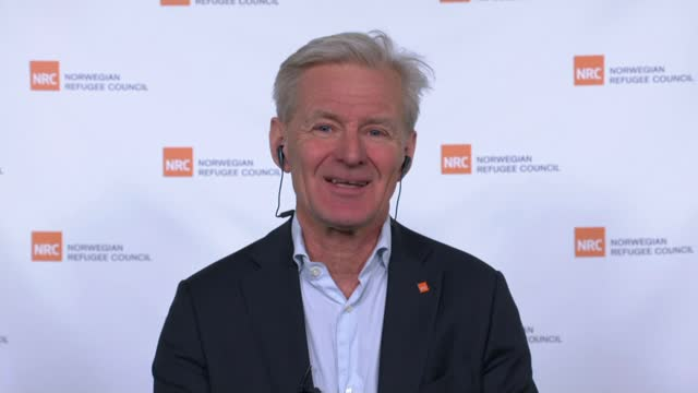 israel demolishes an entire palestinian village; norway: int jan egeland interview via internet / cutaway of reporter - war and conflict video stock e b–roll