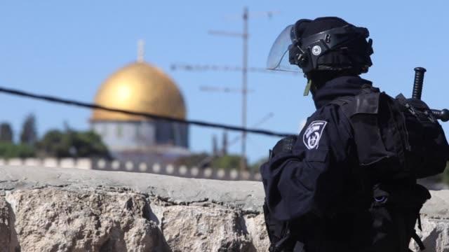 stockvideo's en b-roll-footage met israel deployed more than 1300 police across troubled east jerusalem friday - oost jeruzalem