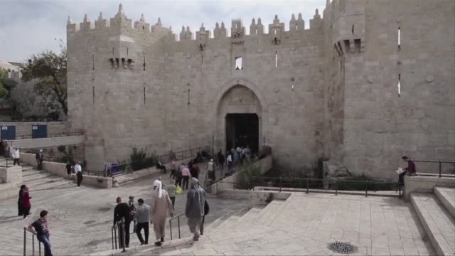 israel eased restrictions at jerusalems al aqsa mosque on friday after us secretary of state john kerry announced agreement on steps to reduce... - compounding stock videos and b-roll footage