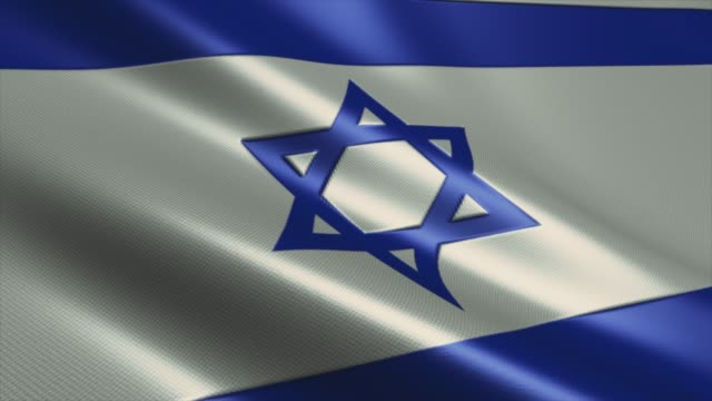 stockvideo's en b-roll-footage met israël flag high detail - looping stock video - verkiezing