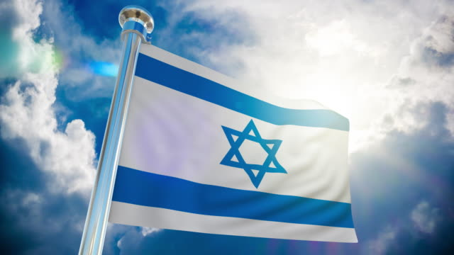 4k - israel flag | loopable stock video - judaism stock videos & royalty-free footage