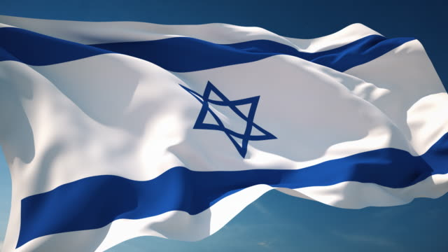 4k israel flag - loopable - national flag stock videos & royalty-free footage
