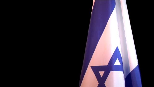 israel flag on a black background - star of david stock videos and b-roll footage