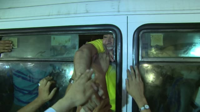 israel freed 26 palestinian prisoners on wednesday hours before the two sides were to hold new direct peace talks amid a growing row over settlements... - prisoner stock videos and b-roll footage
