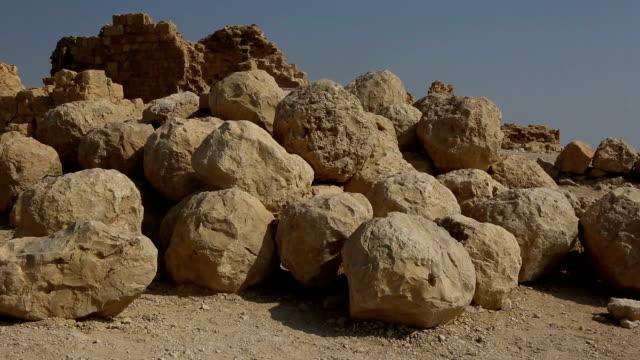 israel- masada, rolling stones - boulder rock stock videos and b-roll footage