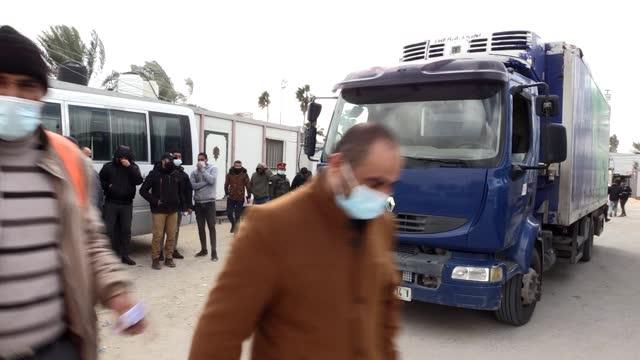 israel on wednesday allowed the palestinian authority to send a batch of anti-coronavirus vaccine into the blockaded gaza strip, an israeli daily... - sputnik stock videos & royalty-free footage