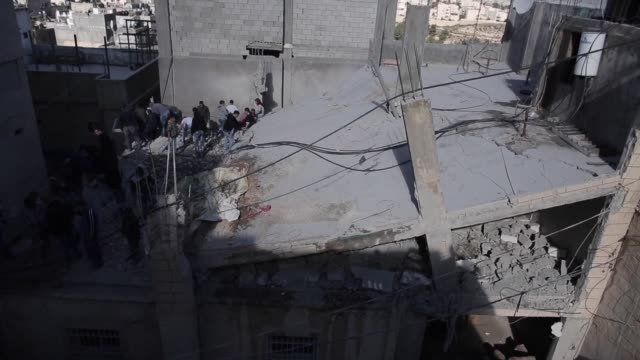 stockvideo's en b-roll-footage met israel on wednesday demolished the home of a palestinian who carried out a deadly car ramming attack last year sparking clashes in the east jerusalem... - oost jeruzalem