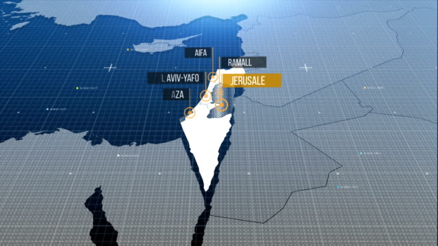 israel- palestine map with label then with out label - palestinian territories stock videos and b-roll footage