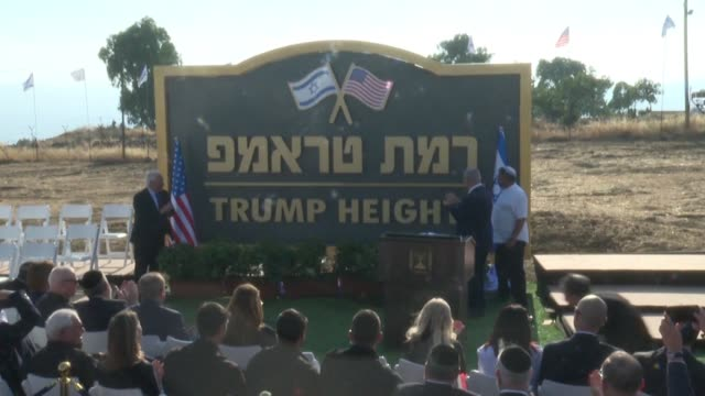 UNS: Israel PM inaugurates Golan settlement honouring Trump