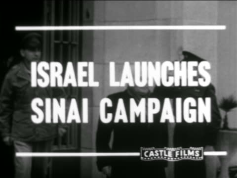 israel prime minister david ben gurion exiting building getting into car / newsreel - israel stock videos & royalty-free footage