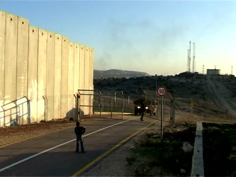 israel says its security barrier is a necessary measure to prevent attacks on the country and on jewish settlements in the west bank. but... - israel stock videos & royalty-free footage
