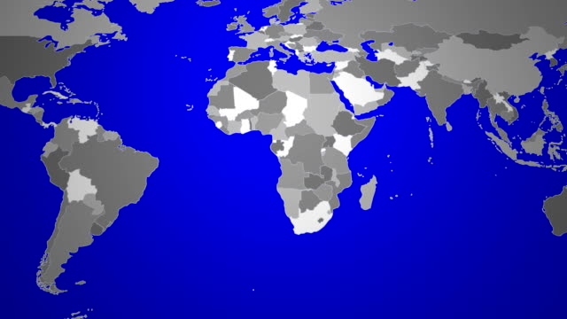Israel - world map animation