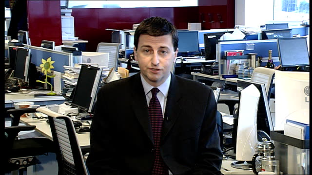 refuses to air gaza appeal; location unknown: int douglas alexander mp interview sot - don't see how bbc's integrity and impartiality would be... - douglas alexander stock videos & royalty-free footage